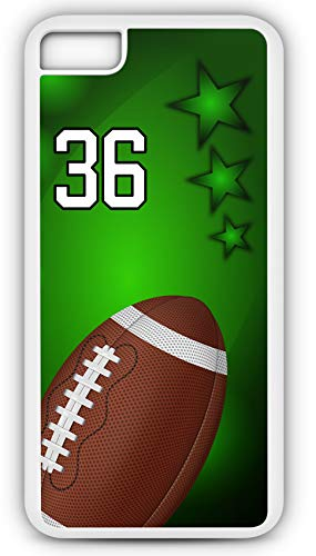 iPhone 6s Phone Case Football F013Z by TYD Designs in White Rubber Choose Your Own Or Player Jersey Number 36 for $<!--$17.95-->