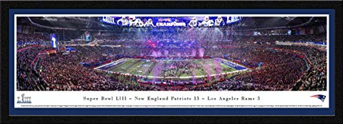 New England Record Patriots (New England Patriots - 2019 Super Bowl LIII Champions - Single Mat, Select Framed Print by Blakeway Panoramas)