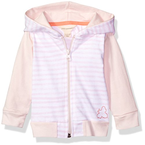 Burt's Bees Baby Girls' Organic Zip Front Hooded Jacket, Dawn Heavy Jersey, (Organic Cotton Hooded Jacket)