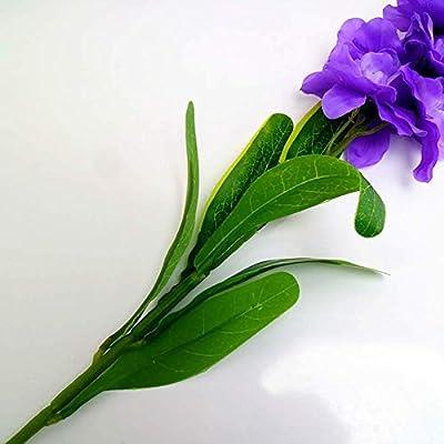 HEBE Artificial Flowers Lavender Bouquet Set of 8 pcs Artificial Plant for Home Decor