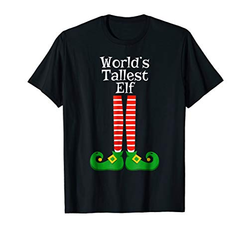 World's Tallest Elf T Shirt Christmas Costume Hilarious Gif -