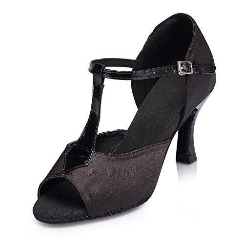 femme Miyoopark 7 5cm de Black Salle heel bal PnBqU7t