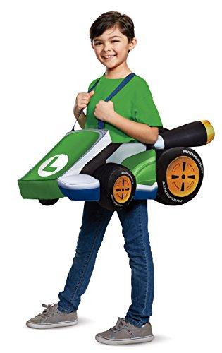Disguise Luigi Kart Child Child Costume, One Size