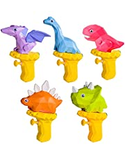 PowerKing Dinosaur Water Gun for Kids, Pools Toys, Summer Water Toys, Childhood Toys, Outdoor Beach Toys for Boy Girls Toddlers Age 2 3 4 5 6 (5 Pack)