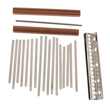 - 17 Key DIY Kalimba Thumb Piano Finger Percussion Parts - Musical Instruments Keyboards & Piano - 17 Pieces Key, 1 Piece Pressure Beam, 1 Piece Small Iron Rod, 2 Pieces Bridges