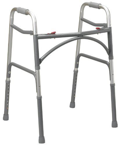 Drive Medical Heavy Duty Bariatric Walker, Gray, Adult Drive Steel Forearm Crutches