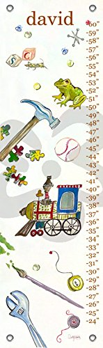 Play Personalized Growth Chart - Oopsy Daisy Play by Shelly Kennedy - Personalized Growth Charts, 12