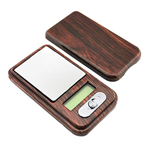 CDZJP Premium High Precision Digital Milligram Scale, 100G/0.01G New Wood Grain Electronic Jewelry Scale, Miniature Palm Pocket Electronic Scale