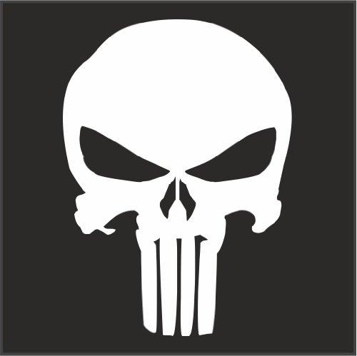 Amazoncom Punisher Logo Helmet Motorcycle Decal Sticker M X - Motorcycle stickers