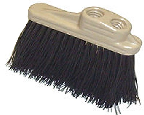 HUB City Industries 2021DH  2'' x 6'' Stiff Black Plastic Bristles, 4'' Trim, Molded Plastic Block