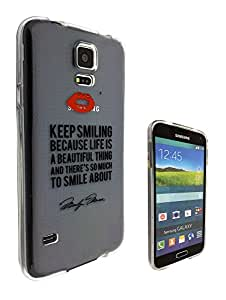 c0133 - Monroe Quote Keep Smiling Design For All Samsung Galaxy S4 Mini Fashion Trend CASE Gel Rubber Silicone Protective Case Clear Cover