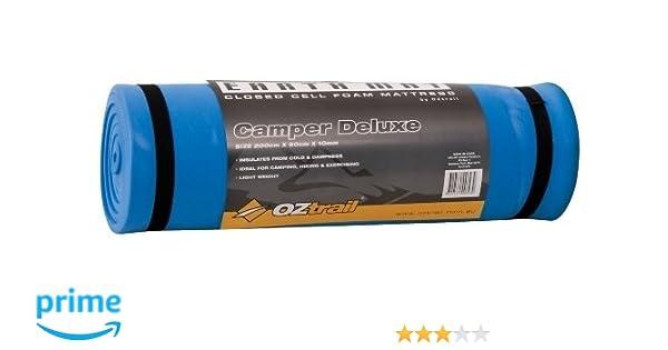 Colchoneta de espuma de 10mm Earth Mat Camper Deluxe EMF-EM10-B esterilla, colchoneta de camping, para acampar 200x50x1cm 410gr, colchón aislante: ...