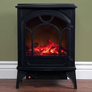 Electric Fireplace, Black, Classic