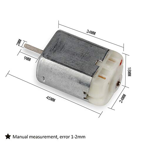 2PCS 10mm FC-280PC-22125 Short Flat Shaft D Spindle Central Door Lock Motor Replacement For -