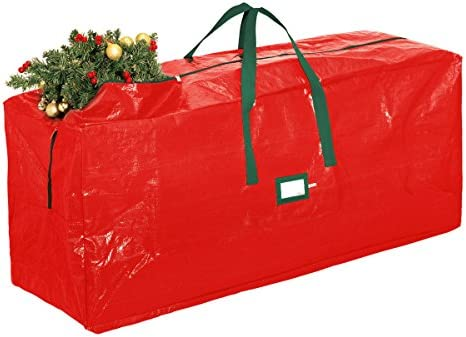 zober extra large christmas tree bag artificial christmas tree storage for un assembled trees up to 9 tall with sleek zipper also accommodates holiday - Christmas Tree Bags Amazon