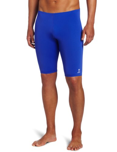 TYR Men's Solid Durafast Jammer Swim Suit (Royal, - Blue Jammers Royal