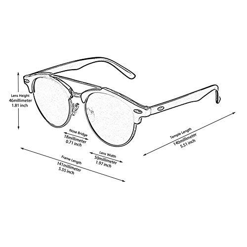crossbar Designer polarizadas sol Dapper GQ52 Negro Brow de Fashion Brand GQUEEN gafas Lustroso plateado Rnzwtqw0