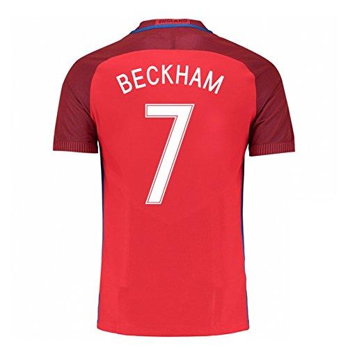 2016-17 England Away Football Soccer T-Shirt Jersey (David Beckham 7) - Kids (Beckham Soccer Shirt)