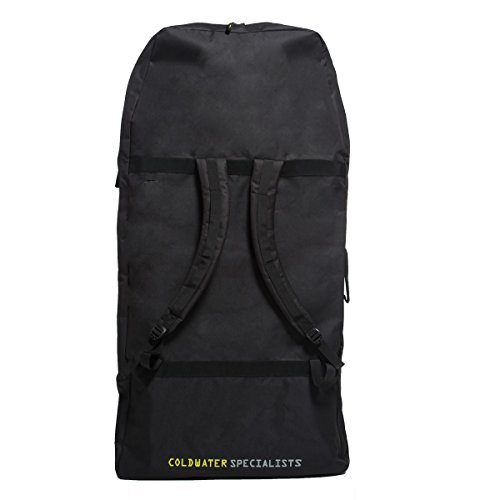 Gul Arica Bodyboard Bag Back Pack for 2 x 42'' Adult Bodyboards. Black / Yellow by GUL (Image #1)