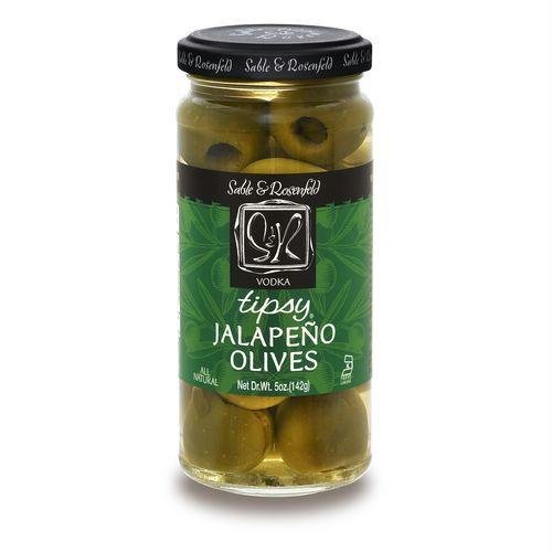 SABLE & ROSENFELD TIPSY OLIVE STFD JLPNO 5.3OZ - Green Stuffed Jalapeno Olives