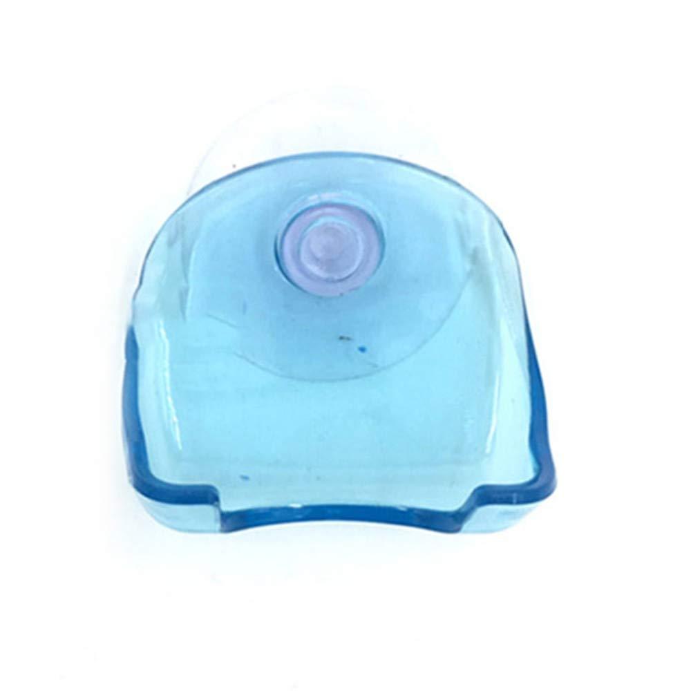 Tuu Grips Suction Razor Holder Plastic Washroom Wall Hanger Shaver Storage (Blue)