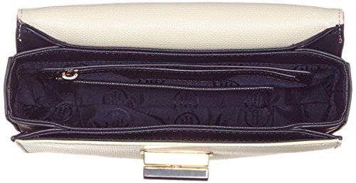 Tommy Hilfiger Turn Lock Crossover Coloublock - Borse a tracolla Donna, Weiß (Corporate), 8x18x22 cm (L x H D)