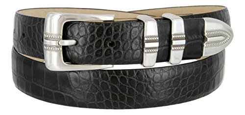 Kaymen Italian Calfskin Leather Designer Dress Golf Belts for Men 1-1/8