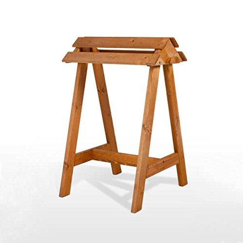 montureros de madera de pie