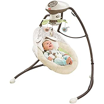 Amazon Com Fisher Price Papasan Cradle Swing Mocha