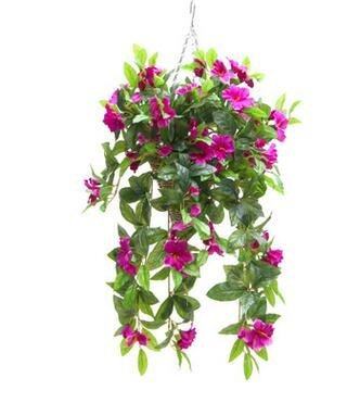 Azalea-Artificial-Silk-Flowers-Hanging-Plant-Vine-without-Basket-for-DIY-Garland-Home-Party-Wedding-Garden-Decor-Pack-of-2