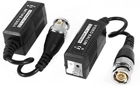 2 Pcs cable coaxial BNC macho UTP Balun video pasivo para la cámara de circuito cerrado de televisión: Amazon.es: Electrónica