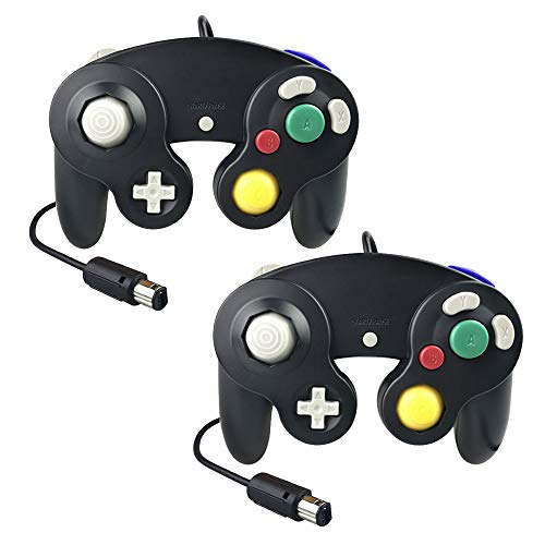 Gamecube Controller,Techinthebox 2 Packs Classic Wired Controllers Gamepad for Wii Gamecube,Compatible with Wii Nintendo - Game Gamecube Pad