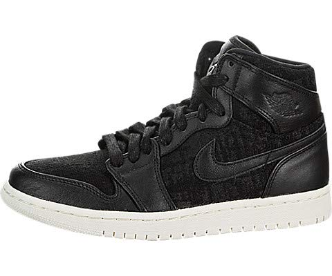 Jordan Air 1 Women's Retro High Premium Shoe (Black/Black, 6.5 M US)