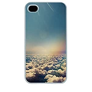 Online Designs Above the clouds 2D PC Hard new White iphone 4 case for boys
