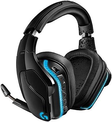 Logitech G935 Wireless DTS:X 7.1 Surround Sound LIGHTSYNC RGB PC Gaming Headset - Black, blue