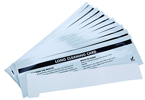 Cleanmo Cleaning Card Kit for Badgy 200/100 ID Card Printer,Pack of 10