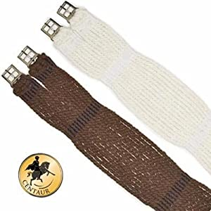 Ovation Mohair Corded Girth Natural, 40