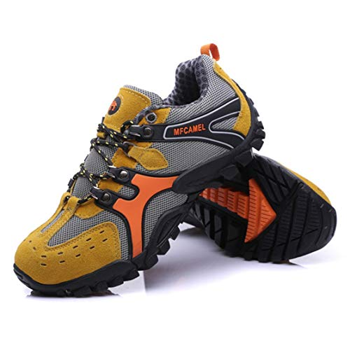 Bunner Outdoor Mountaineering Shoes Casual Sport Men's Hiking Boots Lace-up Shoes for Climbing Mountain Anti-Slip and ()