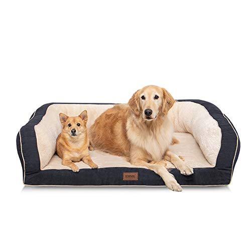 EMME Dog Bed for Small, Medium and Large Dogs Orthopedic Dog Beds with Plush Foam Mattress Joint Relief Washable…