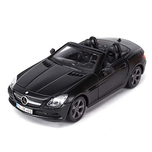Slk Roadster - DNSJB Mercedes SLK Roadster Scale Model Car in Balck - Die Cast Alloy Model Car Toy Collection - L 7.5inch/19cm 1:24 Scale