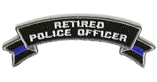 Retired Police Officer Rocker Patch - 4x1.4 inch by Ivamis Trading (Police Patch Officer)