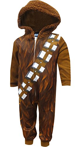 Star Wars Chewbacca Hooded Boys Union Suit Pajama for Little Boys (6)