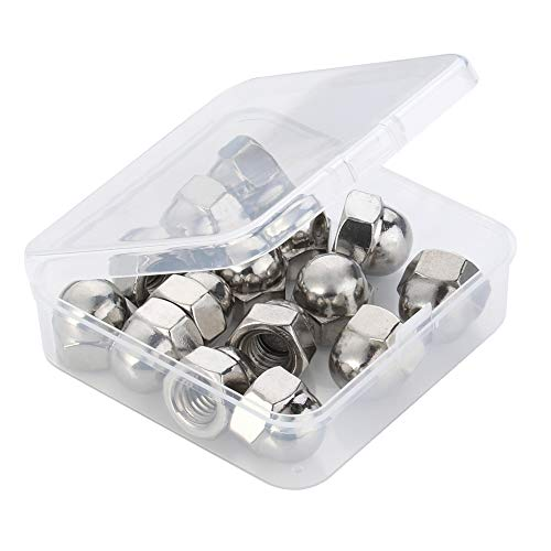 (3/8-16 Acorn Cap Hex Nuts, Stainless Steel 18-8 (304), Bright Finish, Quantity)
