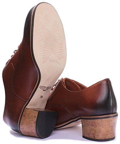 Brown Justin Reece Scarpe Stringate 9600 Donna Pw1HqBXw