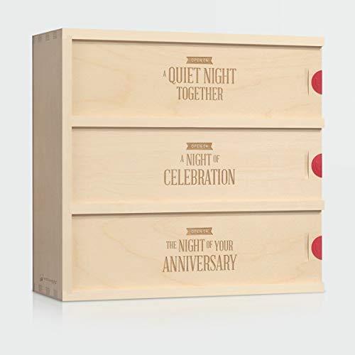 Wine Box Wedding Gift - Three Nights // Gift for the Couple // Anniversary Wine Box // WineforaWedding®