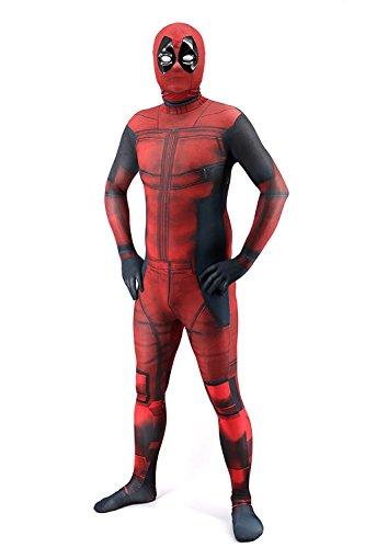 Costume Men Cosplay Easy For (AOVEI Men's Hooded Cosplay Costume Onesie Spandex Halloween Bodysuit with)