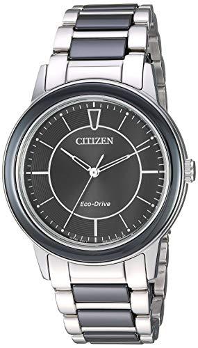 51e Watch - Citizen Women's Eco-Drive Japanese-Quartz Stainless-Steel Strap, Silver, 19 Casual Watch (Model: EM0741-51E)