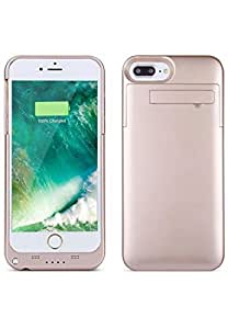 Peyou Slim Battery Case 4000mAh for Apple iPhone 7Plus with Stand STK05 - Rose Gold