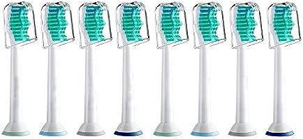 8er Pack, Bürstenkopf für Philips Sonicare Ersatzbürsten ProResults passend für DiamondClean, FlexCare, FlexCare Platinum, FlexCare(+), HealthyWhite, 2 Series, EasyClean and PowerUp Aufsteckbürsten