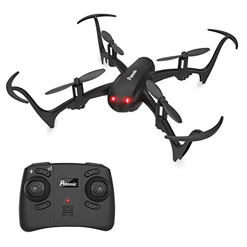 Potensic Mini Drone D10 RC Quadcopter 2.4G 6 Axis with Altitude Hold Function,360° Flip, Headless Mode for Beginners&Kids (Black)